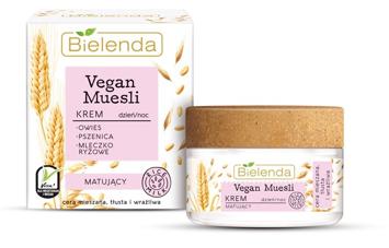Bielenda Vegan Muesli Krem matujący na dzień i noc - cera mieszana, tłusta, wrażliwa 50 ml