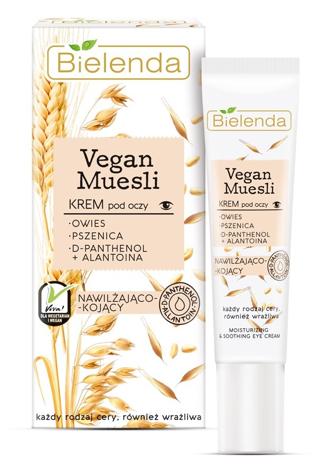 Bielenda Vegan Muesli Krem nawilżająco-kojący pod oczy - każdy rodzaj cery, również wrażliwa 15 ml