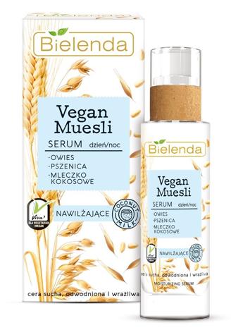 Bielenda Vegan Muesli Serum nawilżające na dzień i noc - cera sucha, odwodniona, wrażliwa 30 ml