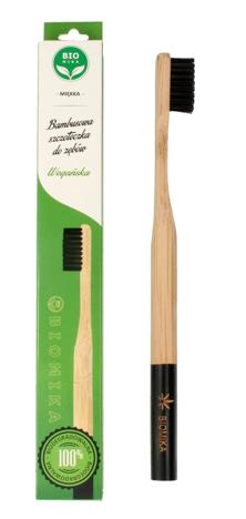 """Biomika Szczoteczka do zębów bambusowa miękka - czarne włosie  1szt"""""""