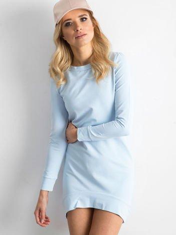 Błękitna dresowa tunika basic