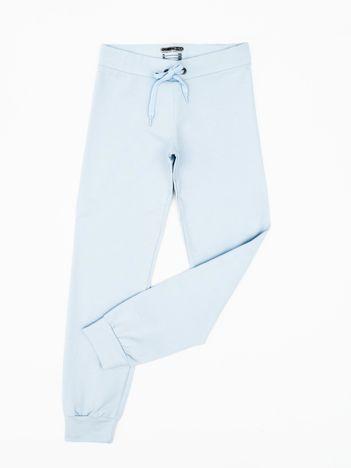 Błękitne dresowe spodnie dziecięce
