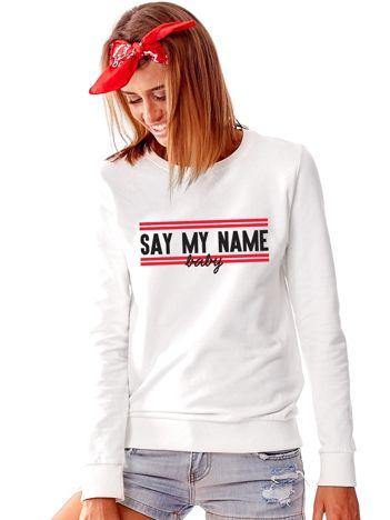 Bluza damska jasnoszara SAY MY NAME BABY