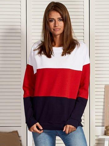 Bluza damska tricolor czerwona