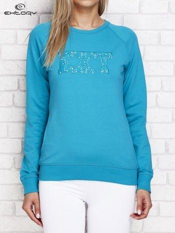 Bluza damska z napisem EXT łososiowa