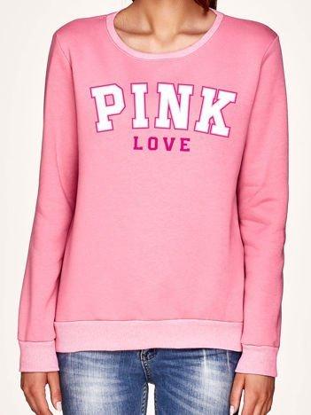 Bluza damska z napisem PINK różowa