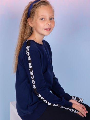 Bluza dla dziewczynki granatowa