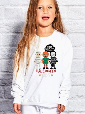 Bluza dziecięca z nadrukiem HALLOWEEN KIDS biała
