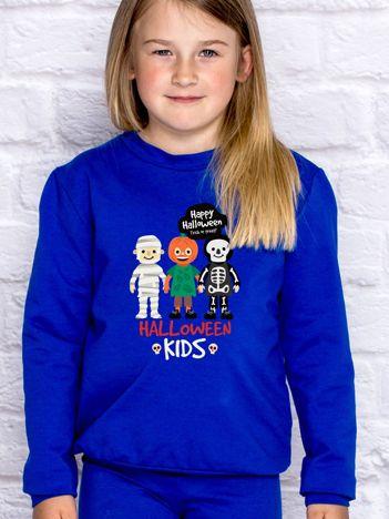Bluza dziecięca z nadrukiem HALLOWEEN KIDS kobaltowa