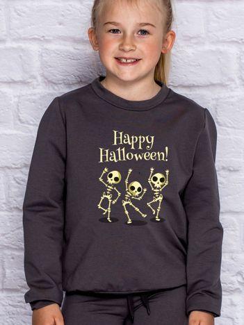 Bluza dziecięca z nadrukiem na Halloween ciemnoszara