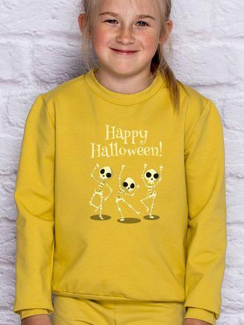 Bluza dziecięca z nadrukiem na Halloween miodowa