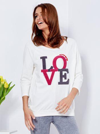 Bluza ecru LOVE
