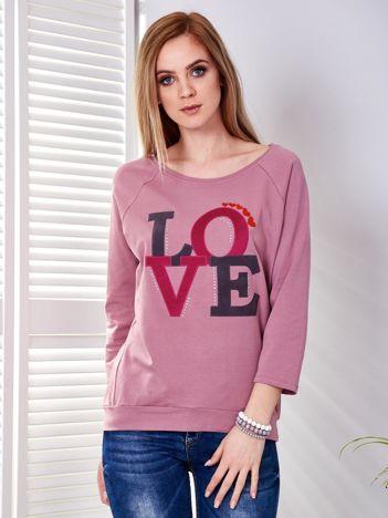 Bluza fioletowa LOVE