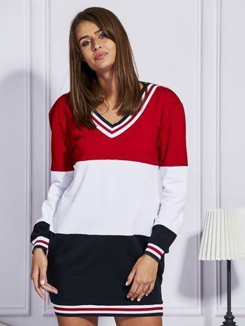 Bluza z kolorowymi modułami czerwona