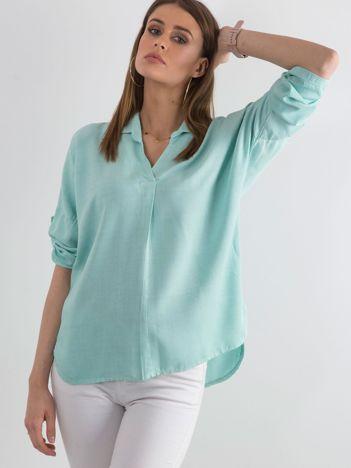 Bluzka koszulowa ciemnomiętowa