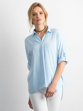 Bluzka koszulowa jasnoniebieska