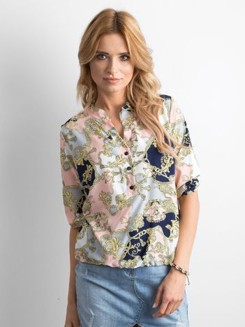 Bluzka koszulowa we wzory