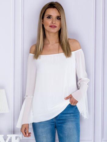 Bluzka szyfonowa hiszpanka biała