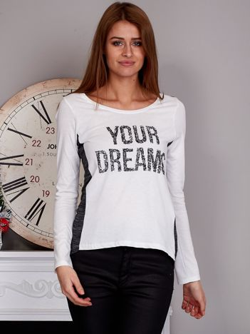 Bluzka z cekinami YOUR DREAMS ecru