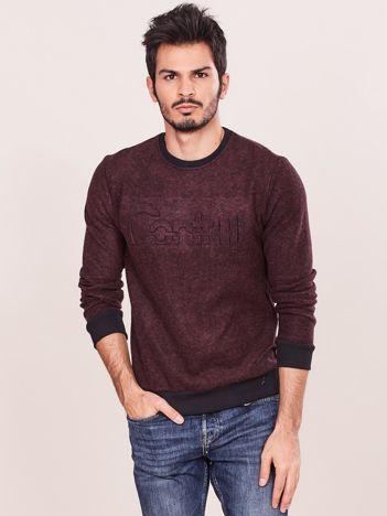 Bordowa bawełniana bluza męska