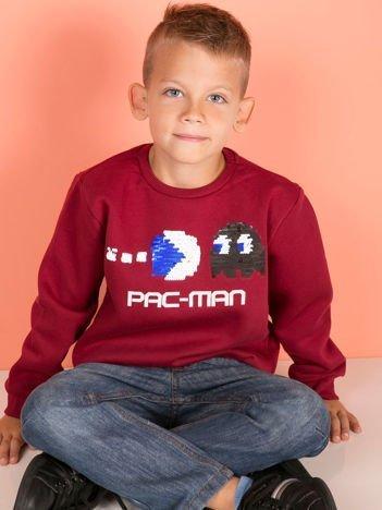 Bordowa bluza dla chłopca