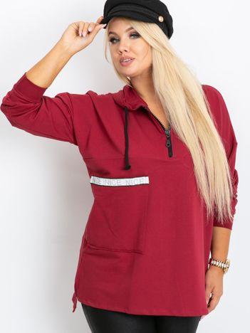 Bordowa bluza plus size Shire