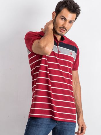 Bordowa męska koszulka polo Holdin