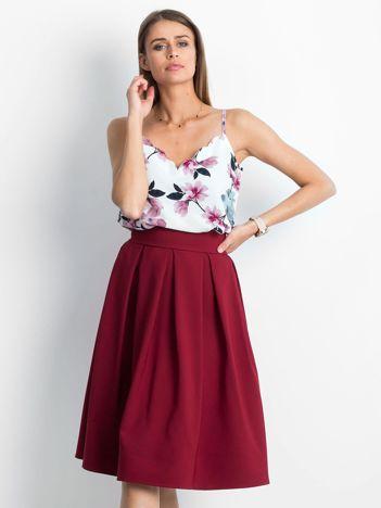 Bordowa spódnica Bucolic