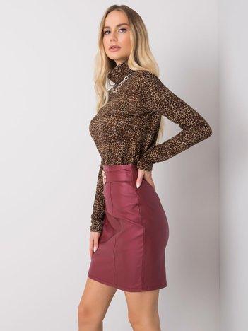 Bordowa spódnica woskowana Ava