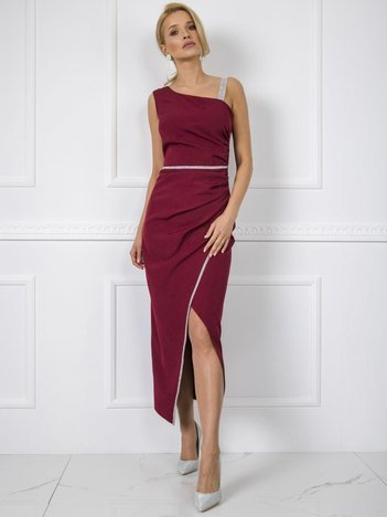 Bordowa sukienka Abbie