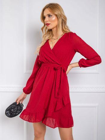 Bordowa sukienka Jasmina RUE PARIS