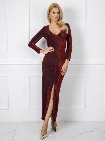 Bordowa sukienka Kimberly