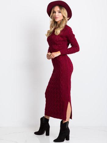 Bordowa sukienka Time