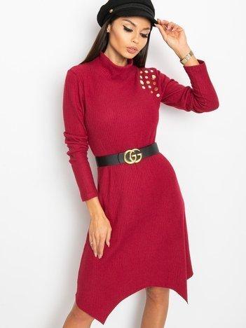 Bordowa sukienka Una