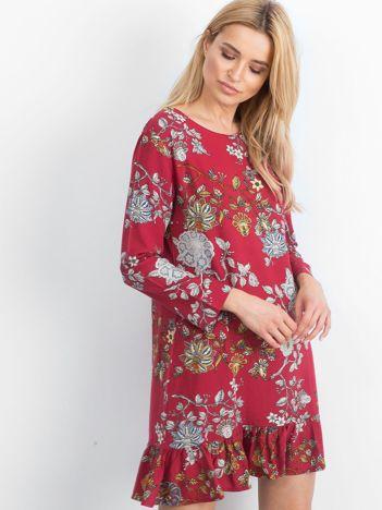 Bordowa sukienka Vibrant
