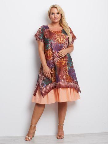 Bordowa sukienka plus size Pennsylvania