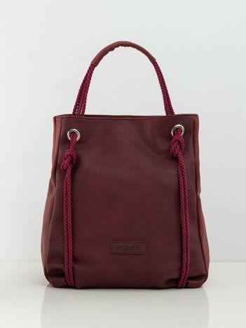Bordowa torba damska z ekoskóry