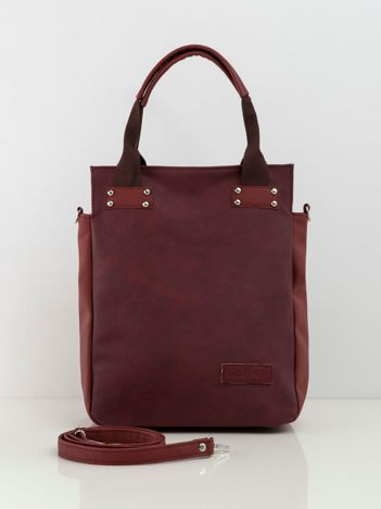 Bordowa torba z ekoskóry