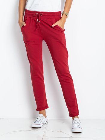 Bordowe spodnie Cadence