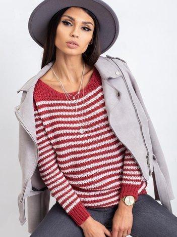 Bordowy sweter Oscar