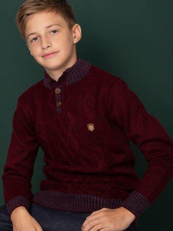 Bordowy sweter dla chłopca