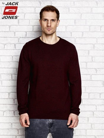 Bordowy sweter męski o regularnym kroju