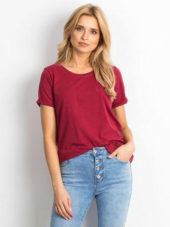 Bordowy t-shirt Transformative