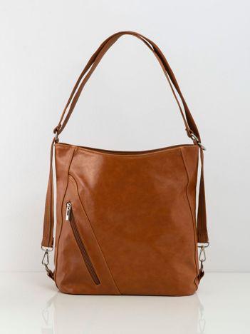 Brązowa damska torba city bag
