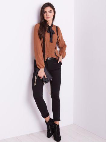 Brązowa elegancka bluzka