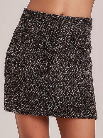 Brązowa melanżowa spódnica mini