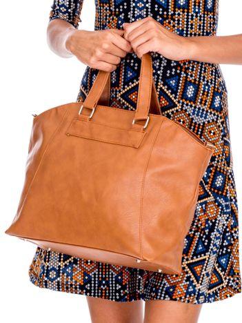 Brązowa miękka torba shopperka