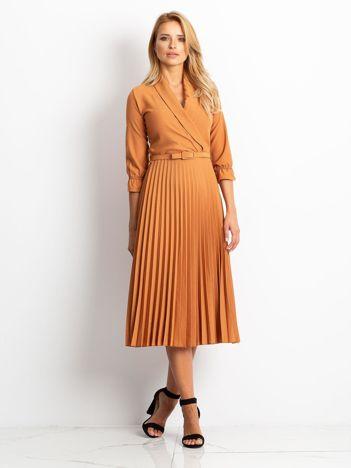 Brązowa sukienka Hope