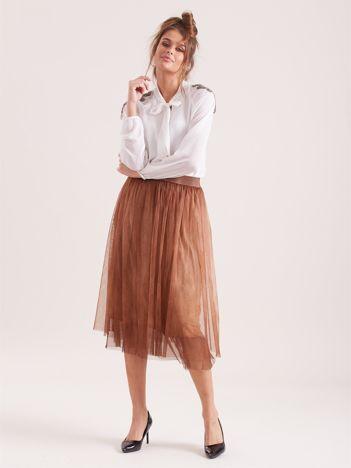 Brązowa tiulowa spódnica