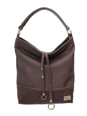 Brązowa torba shopper z ekoskóry BADURA